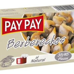 Berberechos al natural Pay Pay, 35/45 piezas