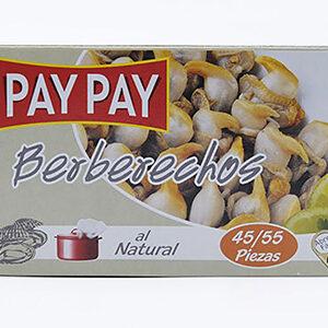 Berberechos al natural Pay Pay, 45/55 piezas