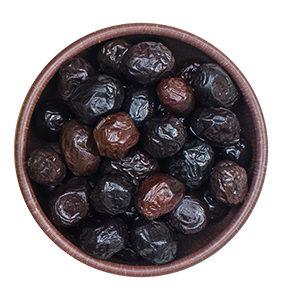 Oliva negra de Aragón, Aceituna negra de Aragón con vinagre, aceite de oliva virgen y sal