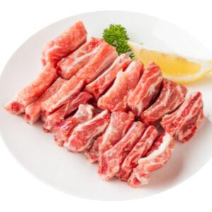Costella de porc a trossos