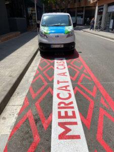Places d'aparcament gratis davant del mercat si vas a recollir la teva compra MERCAT A CASA